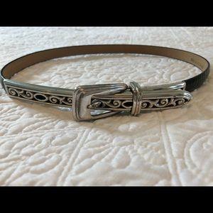 Brighton Black, Thin Leather Belt, Style no. 7703